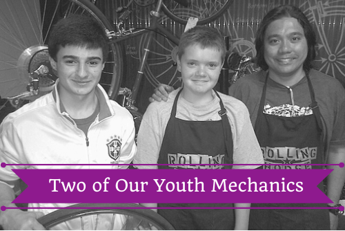 Two of Our Youth Bike Mechanics